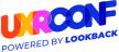 U X R Conference Logo. Text: U X R Conf, Powered by Lookback